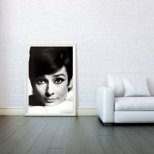 Audrey Hepburn The Head - Decorative Arts, Prints & Posters,Wall Art Print, Poster Any Size - Black and White Poster